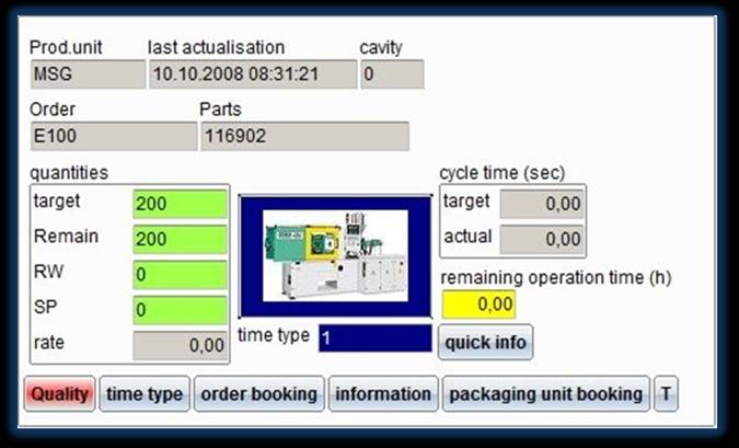 imagen de la interfaz de recopilación de datos de calidad