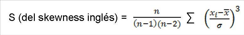 formula de calculos de asimetria cpk