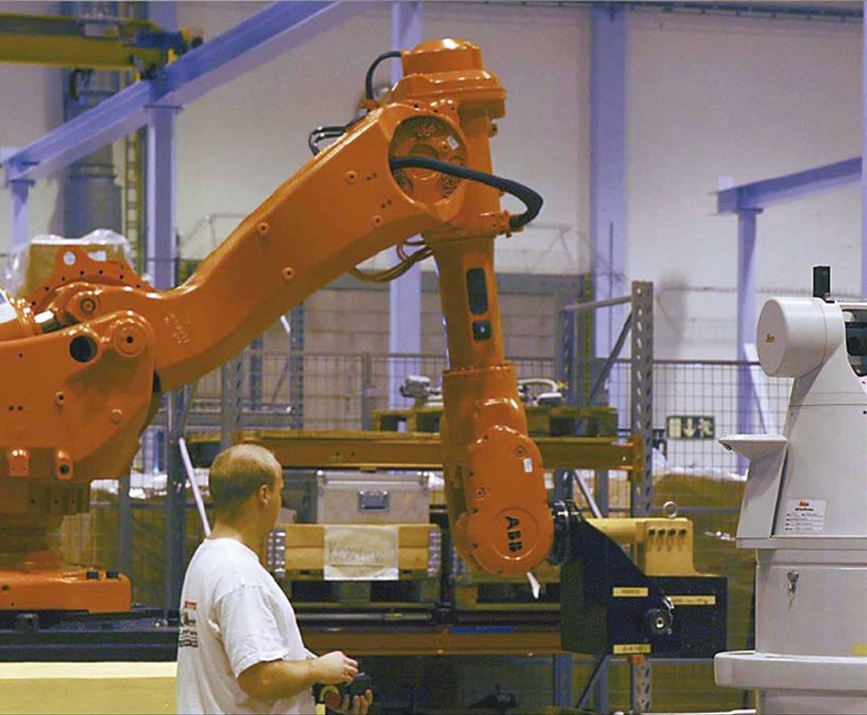 robot abb laser tracker calibracion absoluta