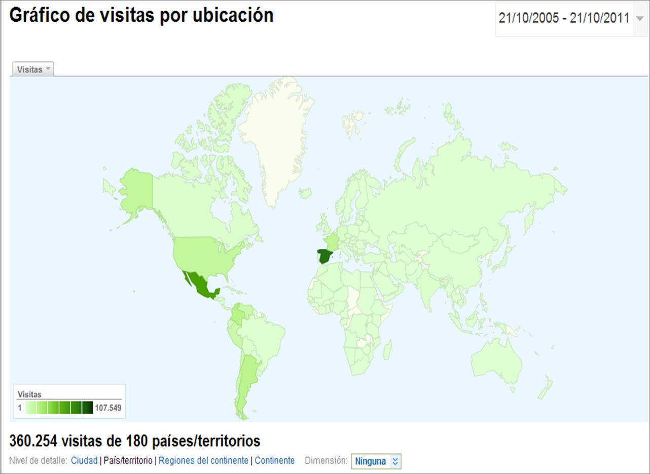 mapa de visitas MeasureControl