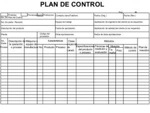 control plan excel